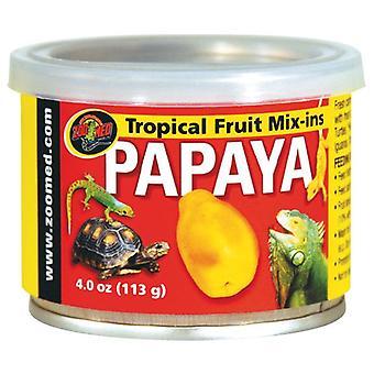 Zoo Med Tropical Fruit de Papaya Mix-Ins (Reptiler, Reptilmat)