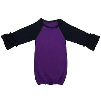 Icing Raglan Ruffle Sleeve Baby Sleep Sack Cotton Baby Clothes, Gowns