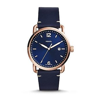 Fossil FS5274 The Commuter Three-Hand Date Blue Leather Men's Watch