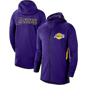 Los Angeles Lakers Showtime Therma Flex Performance Full Hoodie Top WY116