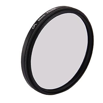 58mm 3 in 1 Round Circle CPL Lens Filter with Cap for GoPro HERO7 Black/6 /5