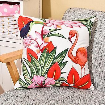 Flamingo And Ramphastos Pillow