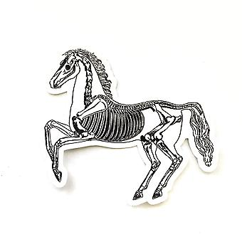 Vintage Skeleton Horse Vinyl Sticker