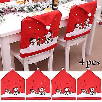 Fyra juldekorationer stol täcka dekoration