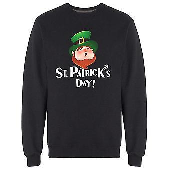 St Patrick Day Cool Leprechaun Moletom Men's -Imagem por Shutterstock
