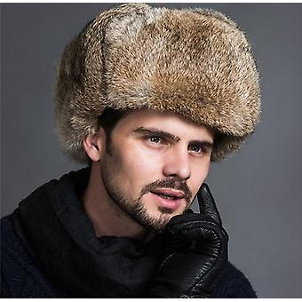 Men's Winter Faux Fur Hats