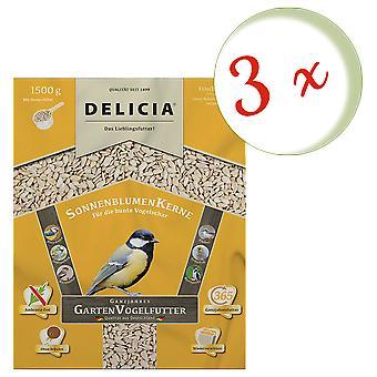 Sparset : 3 x FRUNOL DELICIA® Delicia® Graines de tournesol, 1,5 kg