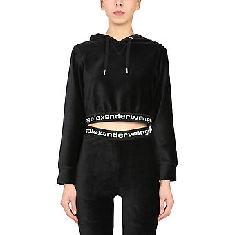 Alexander Wang.t 4cc1211197001 Women's Black Cotton Sweatshirt