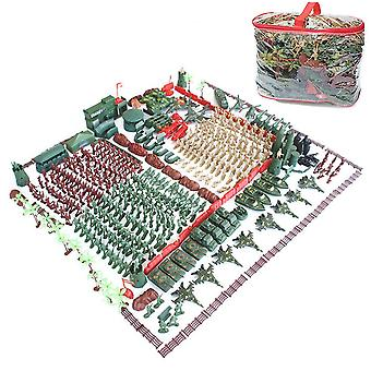 488pcs/set World War II sand table scene military base Plastic soldiers 5cm