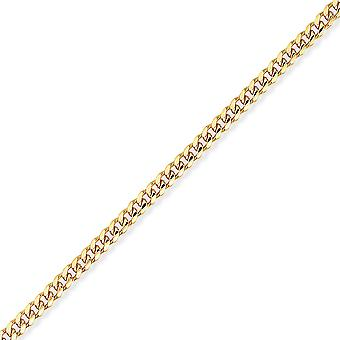 Jewelco London 9ct Gelbgold - Bombe Bordstein Kette -