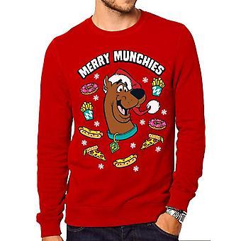 Scooby Doo Unisex Adults Merry Munchies Print Christmas Crewneck Sweatshirt