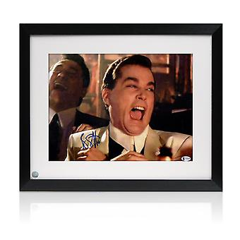 Ray Liotta Signed Goodfellas Photo: Funny Guy. Framed