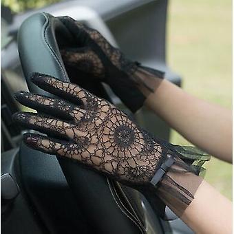 Femei de primăvară și varăăs Mănuși de protecție solară din dantelă din dantelăs