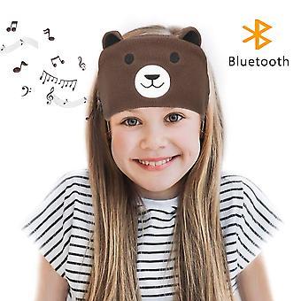 Laelr kids headband headphones soft fleece wireless bluetooth headband headset with built-in microph