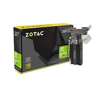 Zotac zt-71301-20l nvidia geforce gt 710 pci express 2.0 1 gb graphics card - multi-colour 1gb ddr3