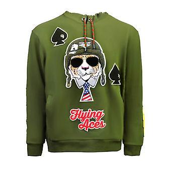 Top Gun Flying Aces Pullover Hoodie Olive