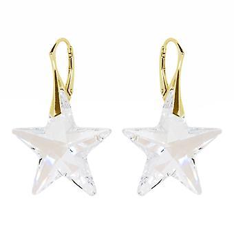 Zilveren Goudkleurige Oorbellen conoció a Swarovski Elements Star Crystal Moonlight
