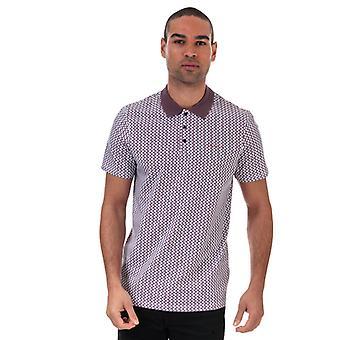 Men's Ted Baker Spinn Geo Golf Polo Shirt in Purple