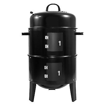 Barbeque - Smoker - Grill - 3-in-1 tuin grill zwart - 40cx40x83 cm