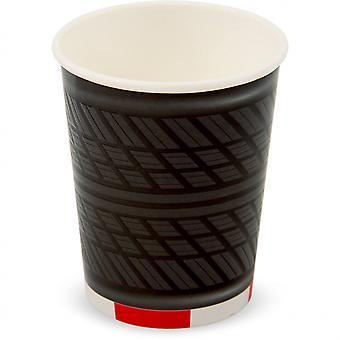 Cup set Formula 1 350 Ml Cardboard Black / Grey / White 4 Pieces