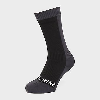 Sealskinz Men's Waterproof Cold Weather Mid Length Sock Black