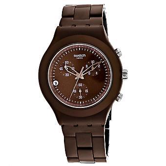 Swatch Men's Vollblut Stoneheart Brown Zifferblatt Uhr - SVCC4000AG