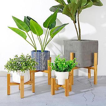Puinen nelijalkainen kukkateline Vahva kestävä pidike kasvi ruukkuhyllyalusta