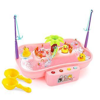 Música elétrica Rotary Água Pesca Fishing Pai-filho Brinquedo de Quebra-Cabeça