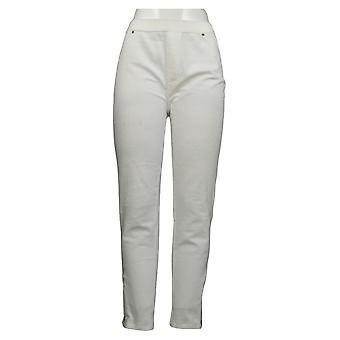 Susan graver vrouwen ' s broek breien corduroy rechte been wit A297161