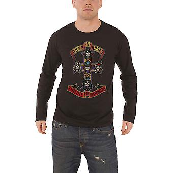 Guns N Roses T Shirt Appetite For Destruction Official Mens Black Long Sleeve