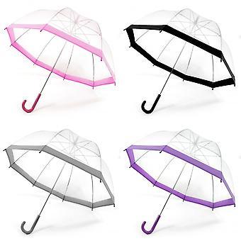 Damen/Frauen Transparent Dome Walking Regenschirm