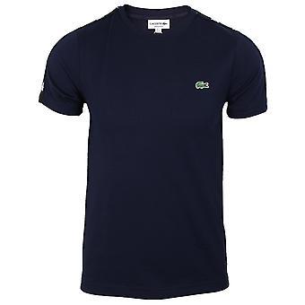 Lacoste men's navy teipattu t-paita