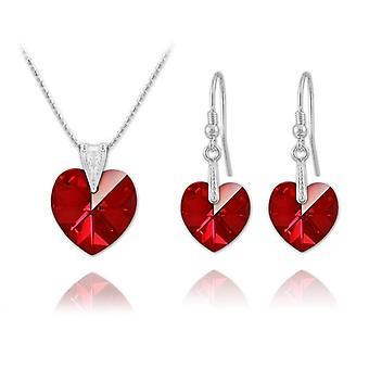 قلادة القلب الفضي قلادة مجوهرات مجموعة سيام