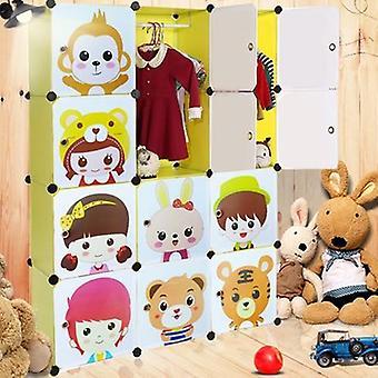 Organisateur de garde-robe de bébé de résine d'assemblée de meubles d'armoire de coffret d'enfants