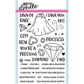Heffy Doodle Geology Rocks Clear Stamps