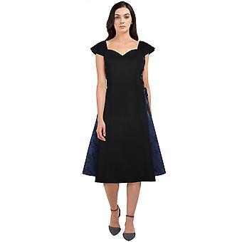 Chic Star Plus Size Panel gotisk kjole i sort / blå