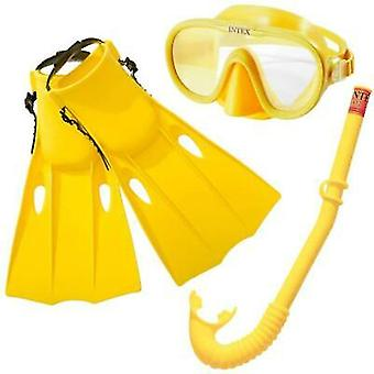Intex Snorkel, Mask and Flippers Diving Kit Adult Master Class Set
