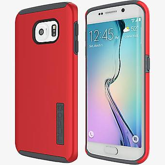 Incipio DualPro Shock-absorbing Case for Samsung Galaxy S6 Edge - Red/Charcoal