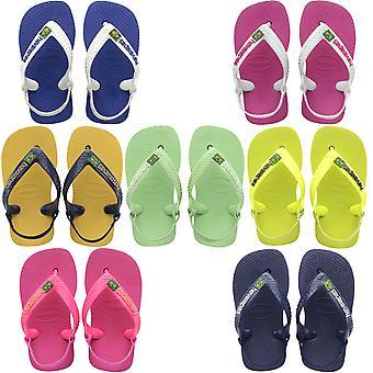 Havaianas Niños Bebé Brasil Logo Summer Beach Vacaciones Sandalias Flip Flops