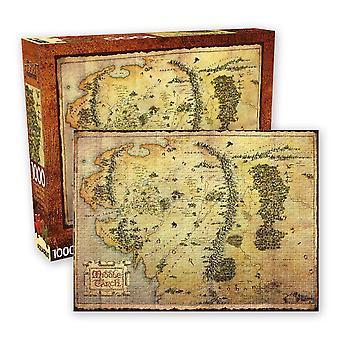 Hobbit - karta 1000pc pussel
