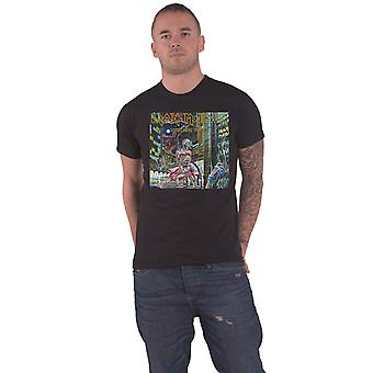 Iron Maiden T Shirt Somewhere in Time Box Band Logo uusi virallinen Miesten Musta