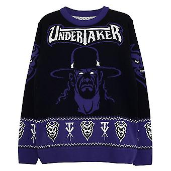 WWE Mens The Undertaker Knitted Jumper