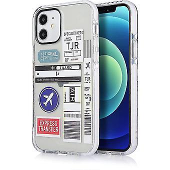 FengChun Handy Case Cover Schutz Hülle iPhone Boarding Pass Flugticket, Stempel Länder Einreise