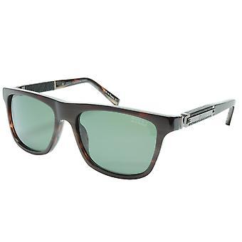 ZILLI Solglasögon Titanacetat Läder Gunmetal Polariserad Frankrike ZI 65010 C03