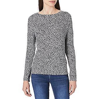 Springfield Camiseta Perchada Estampada T-Shirt, Medium Grey, L Woman