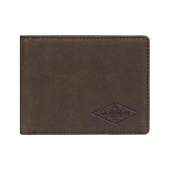 Quiksilver Slim Vintage III Faux läder plånbok i chokladbrun