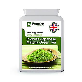 Japanese Matcha Green Tea – 500mg 60 Capsules | Suitable For Vegetarians & Vegans | Made In UK by Prowise