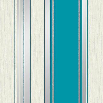 Synergy Stripe Teal Wallpaper