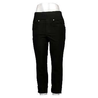 Belle af Kim Grus Kvinders Jeans Regelmæssig Flexibelle Cuffed Black A345862