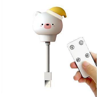 Led Usb Cute Cartoon Bear Remote Control Night Lamp